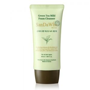 SanDaWha for Men Green Tea Mild Foam Cleanser